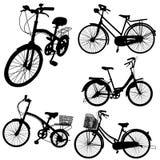 Reeks van fietsvector Stock Afbeeldingen