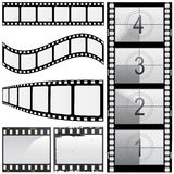 Reeks van filmvector Royalty-vrije Stock Foto