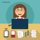 Reeks van freelance carrière vector illustratie