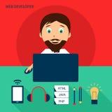 Reeks van freelance carrière royalty-vrije illustratie