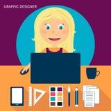 Reeks van freelance carrière stock illustratie
