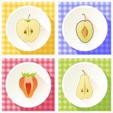 Reeks van fruitdwarsdoorsnede Royalty-vrije Stock Afbeelding