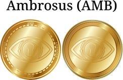 Reeks van fysiek gouden muntstuk Ambrosus AMB Royalty-vrije Stock Foto