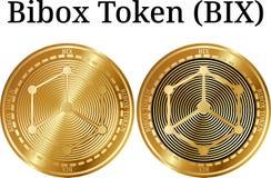 Reeks van fysiek gouden muntstuk Bibox Symbolische BIX Stock Foto's