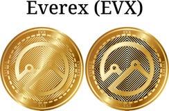 Reeks van fysiek gouden muntstuk Everex EVX Stock Fotografie