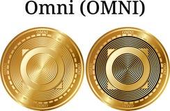 Reeks van fysiek gouden muntstuk Omni OMNI Royalty-vrije Stock Afbeelding