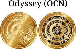 Reeks van fysieke gouden muntstukodyssee OCN Royalty-vrije Stock Afbeeldingen