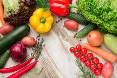 Reeks van geïsoleerd groentendeel Stock Foto's