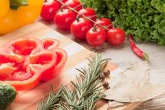 Reeks van geïsoleerd groentendeel Royalty-vrije Stock Afbeeldingen