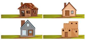 Reeks van geïsoleerd huis stock illustratie
