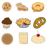Reeks van gebakje Stock Foto's