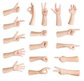 Reeks van gebarenhand Stock Afbeelding