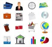 Bedrijfs pictogrammen Stock Foto