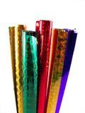Reeks van gekleurd verpakkingsdocument stock foto's