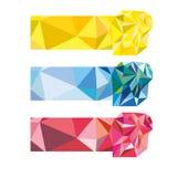 Reeks van gekleurde abstracte veelhoekige achtergrond Stock Fotografie