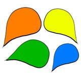 Reeks van gekleurde stickertoespraak royalty-vrije illustratie