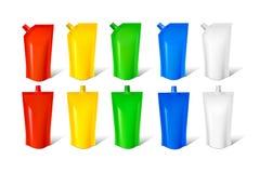 Reeks van gekleurde verpakking Stock Illustratie