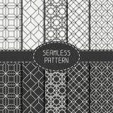 Reeks van geometrisch abstract naadloos kubuspatroon Royalty-vrije Stock Foto's