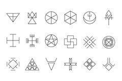 Reeks van geometrische hipster shapes11 Stock Foto