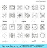 Reeks van geometrische hipstervormen en logotypes65488117 Stock Afbeelding
