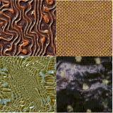 Reeks van geproduceerde textuur die metaal op rooster lijken stock illustratie