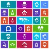 Reeks van 27 gezichtspictogrammen Royalty-vrije Stock Afbeelding