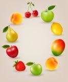 Reeks van gezond voedselfruit royalty-vrije illustratie