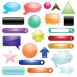 Reeks van glanzend pictogram voor Web Stock Foto's