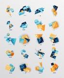 Reeks van glanzende document stijl geometrische samenvatting royalty-vrije illustratie