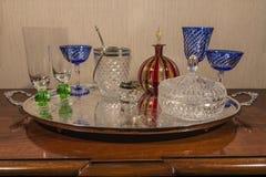 Reeks van glas Stock Foto's