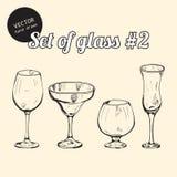 Reeks van glas Royalty-vrije Stock Fotografie
