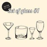 Reeks van glas Stock Afbeeldingen