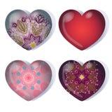 Reeks van gradiënthart voor de dag van de valentijnskaart Stock Fotografie