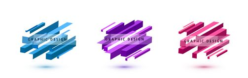 Reeks van grafische vormen abstracte vectorachtergrond Minimaal geometrisch lijnenontwerp met diagonale richting vector illustratie