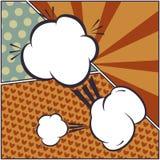 Reeks van grappige bellen en elementenkunst, met halftone shado royalty-vrije illustratie