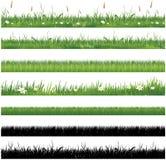 Reeks van groene grasinzameling Royalty-vrije Stock Fotografie