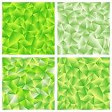 Reeks van groene veelhoekige achtergrond vier Royalty-vrije Stock Fotografie
