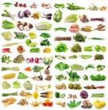 Reeks van groente op witte achtergrond Stock Foto's