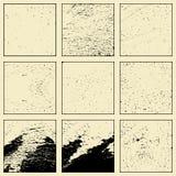 Reeks van grunge verschillende textuur Stock Fotografie
