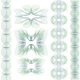 Reeks van guilloche element Royalty-vrije Stock Afbeeldingen