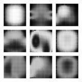Reeks van halftone textuur Stock Afbeelding