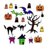 Reeks van Halloween-achtergrond Royalty-vrije Stock Fotografie