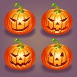 Reeks van Halloween-pompoen Stock Afbeelding