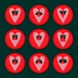 Reeks van hartenrood royalty-vrije illustratie