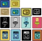 Reeks 2 van het badkamerspak Stock Afbeeldingen