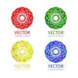 Reeks van het bedrijfs de geometrische embleemmalplaatje Stock Afbeeldingen