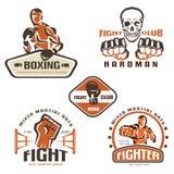 Reeks van het bestrijden van clubemblemen, MMA Royalty-vrije Stock Foto's