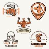 Reeks van het bestrijden van clubemblemen, MMA Stock Fotografie