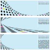Reeks van het Blauwe Malplaatje Van uitstekende kwaliteit Abstracte Backgro Vector Illustratie