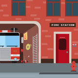 Reeks van het brandbestrijders de vectorpictogram vector illustratie